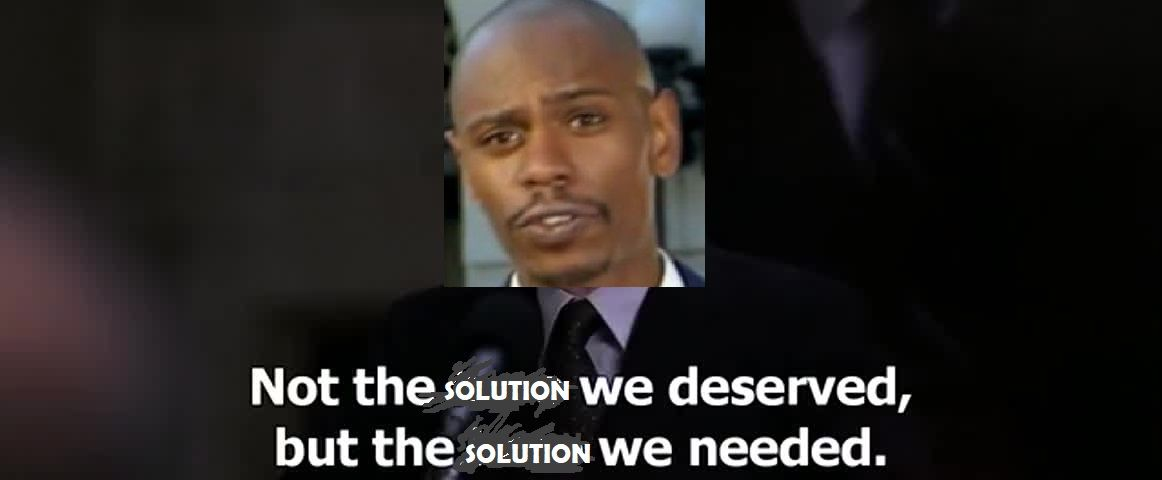 The solution we needed